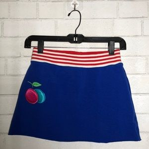 C. Robson Y2K Blue Cherry Skirt
